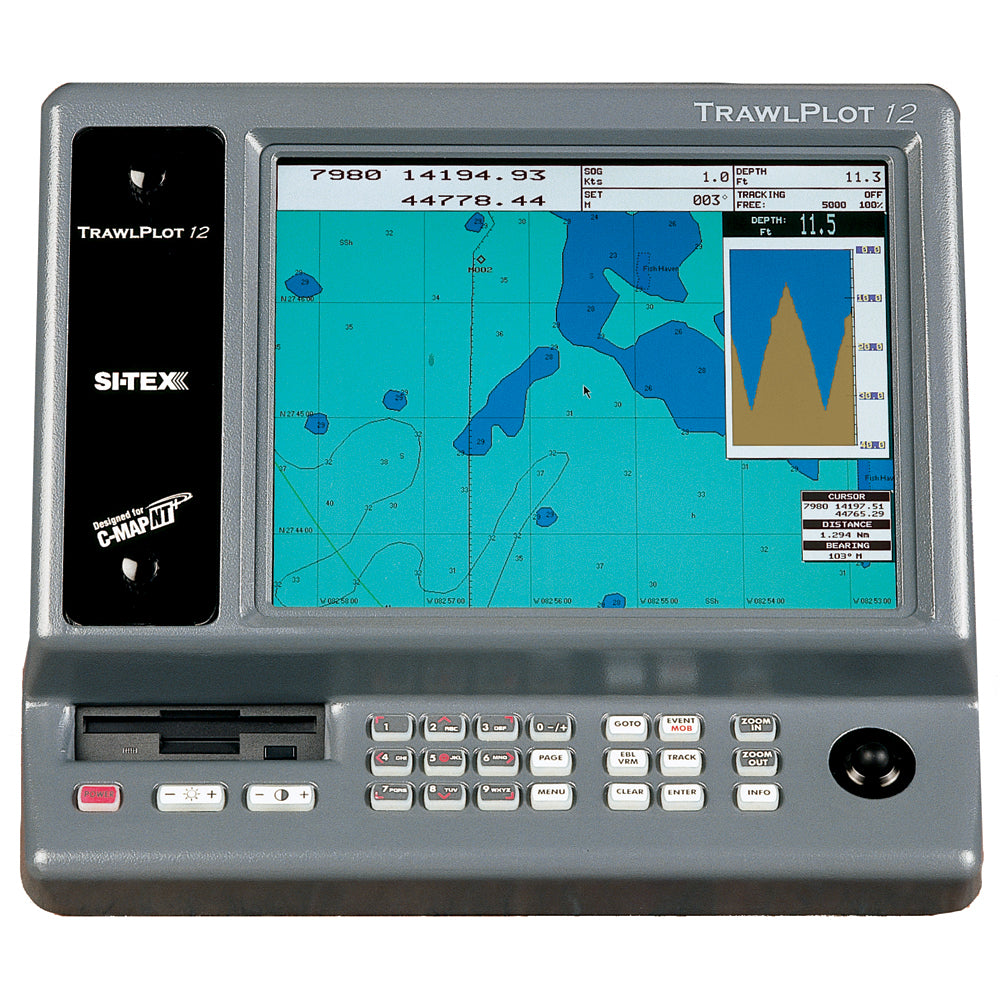 SI-TEX TRAWLPLOT 12 SD Color Chartplotter w/WAAS Receiver