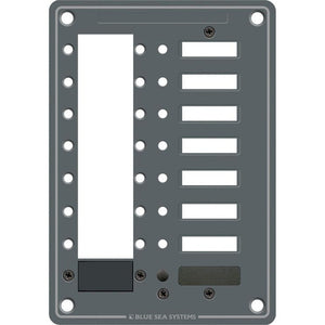 Blue Sea 8087 8 Position DC C-Series Panel - Blank