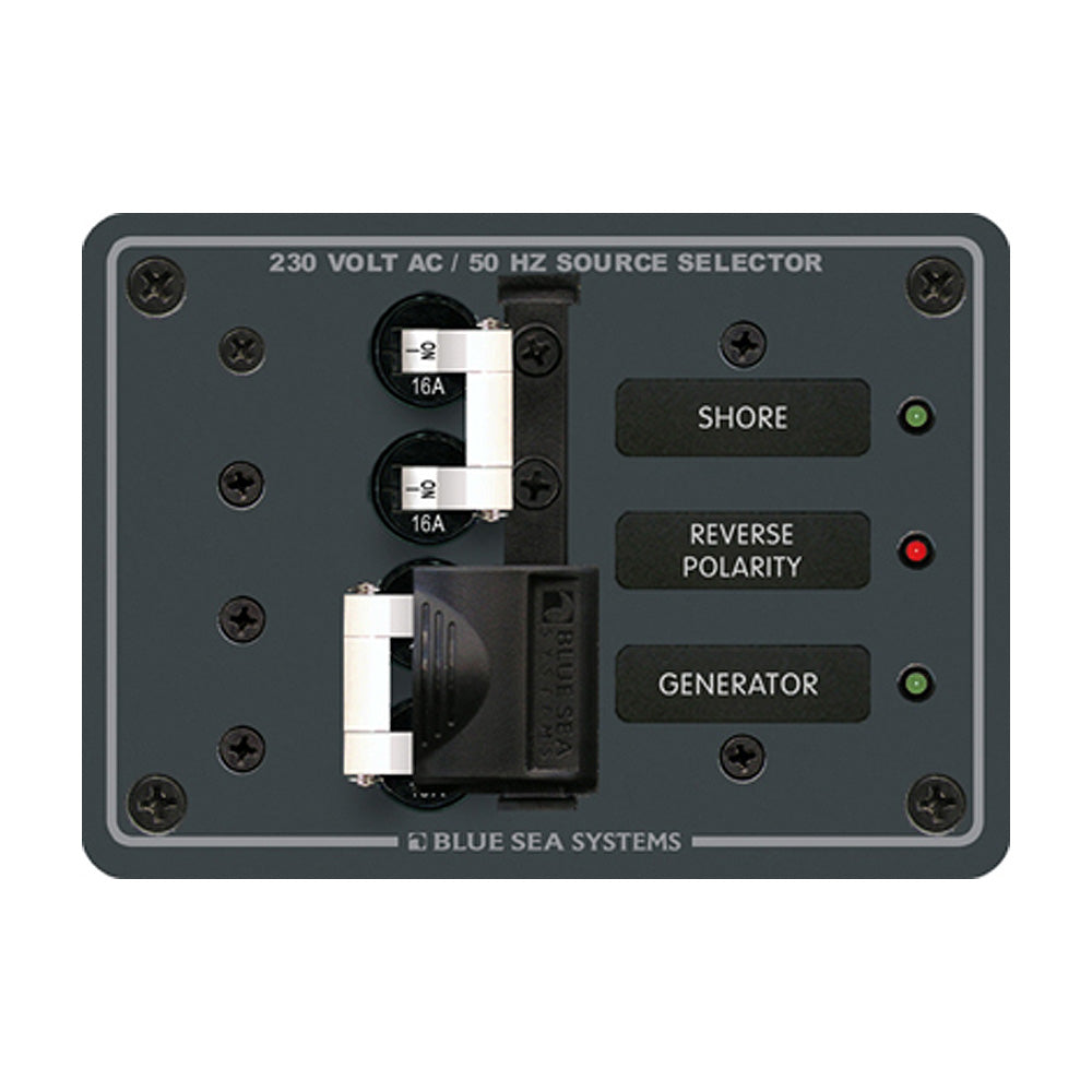 Blue Sea 8132 AC Toggle Source Selector (230V) - 2 Sources