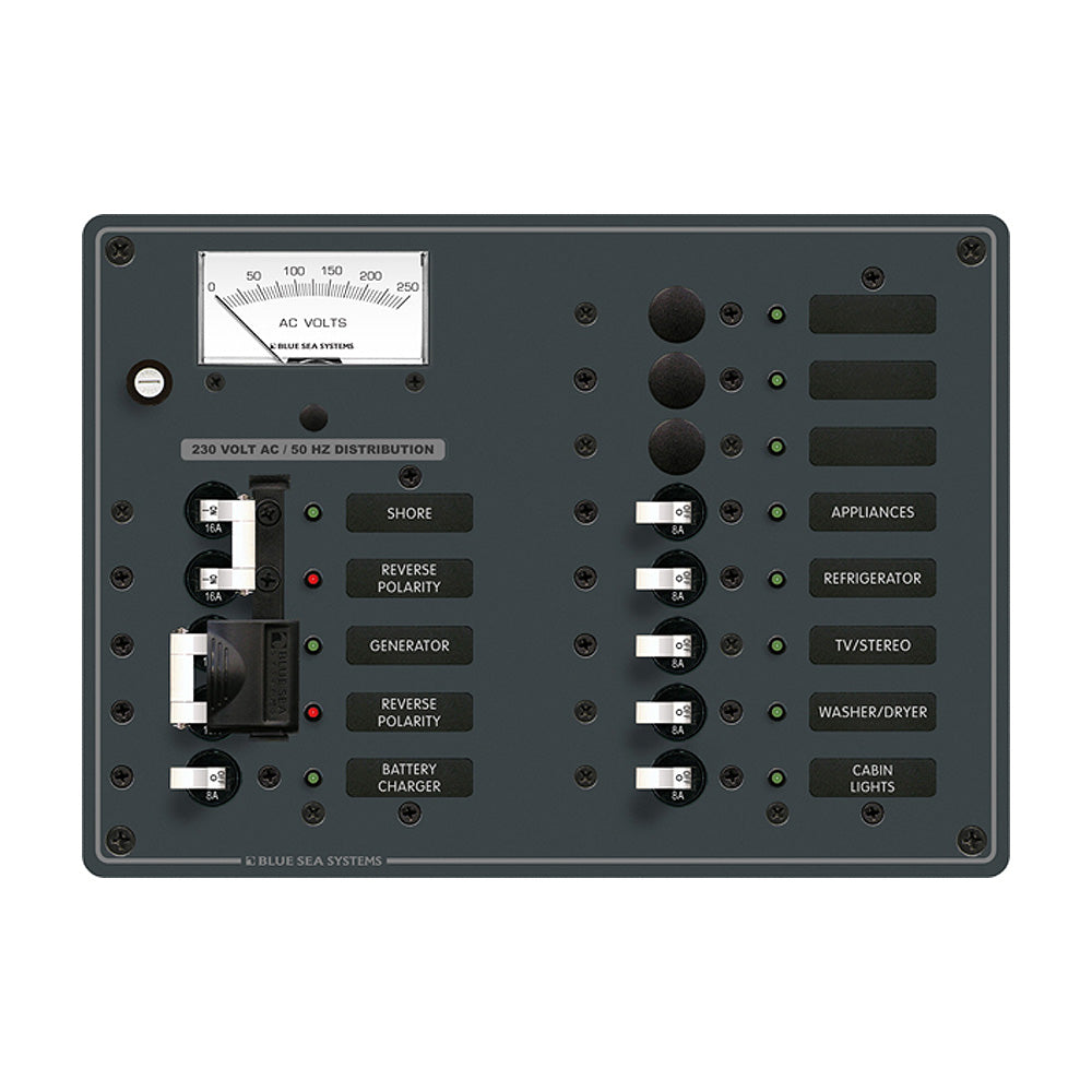 Blue Sea 8562 AC Toggle Source Selector (230V) - 2 Sources + 9 Positions