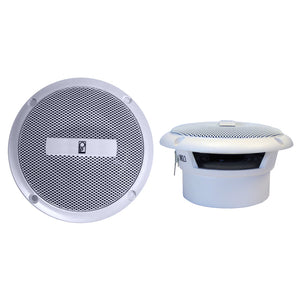 "Poly-Planar 3"" Round Flush-Mount Compnent Speakers - (Pair) White"