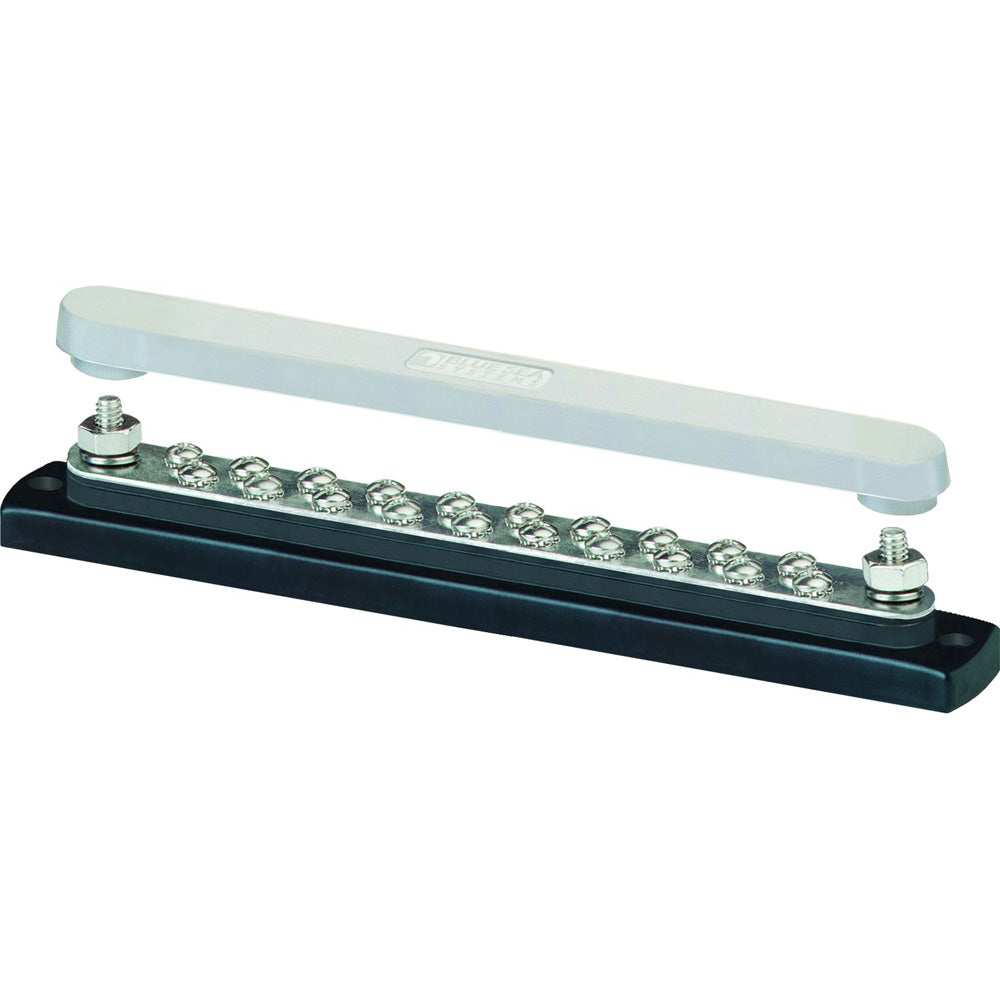 Blue Sea 2312, 150 Ampere Common Busbar 20 x 8-32 Screw Terminal with Cover