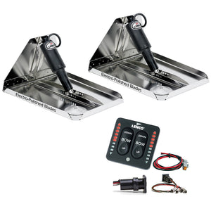 "Lenco 16"" x 12"" Heavy Duty Performance Trim Tab Kit w/LED Indicator Switch Kit 12V"