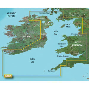 Garmin BlueChart g3 Vision HD - VEU004R - Irish Sea - microSD/SD