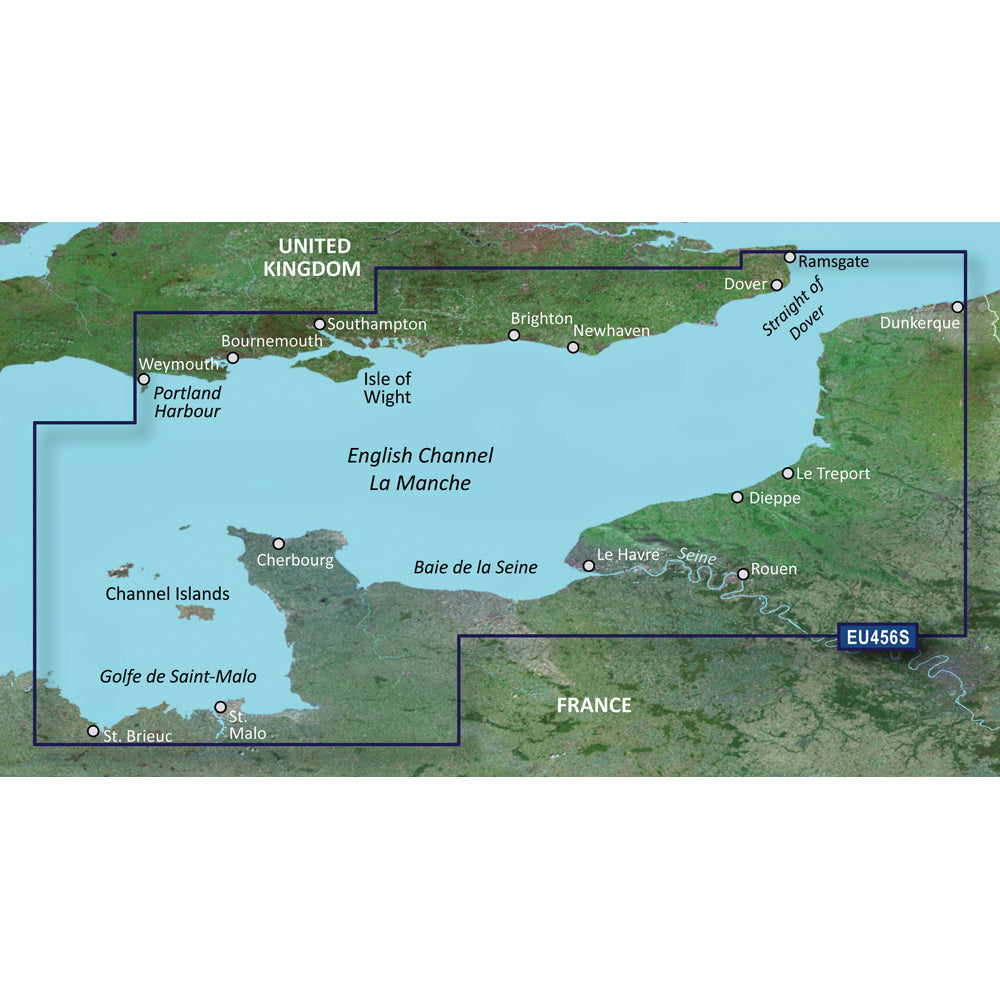 Garmin BlueChart g3 Vision HD - VEU465S - The Solent  Channel Islands - microSD/SD