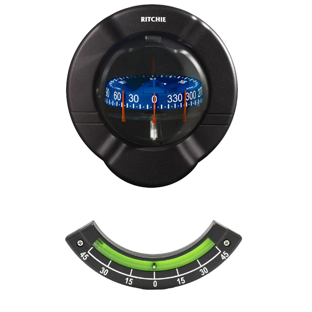 Ritchie SR-2 Venture Sail Boat Compass w/Clinometer - Bulkhead Mount - Black