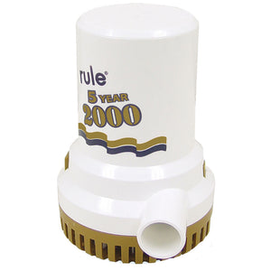 "Rule 2000 G.P.H. ""Gold Series"" Bilge Pump"