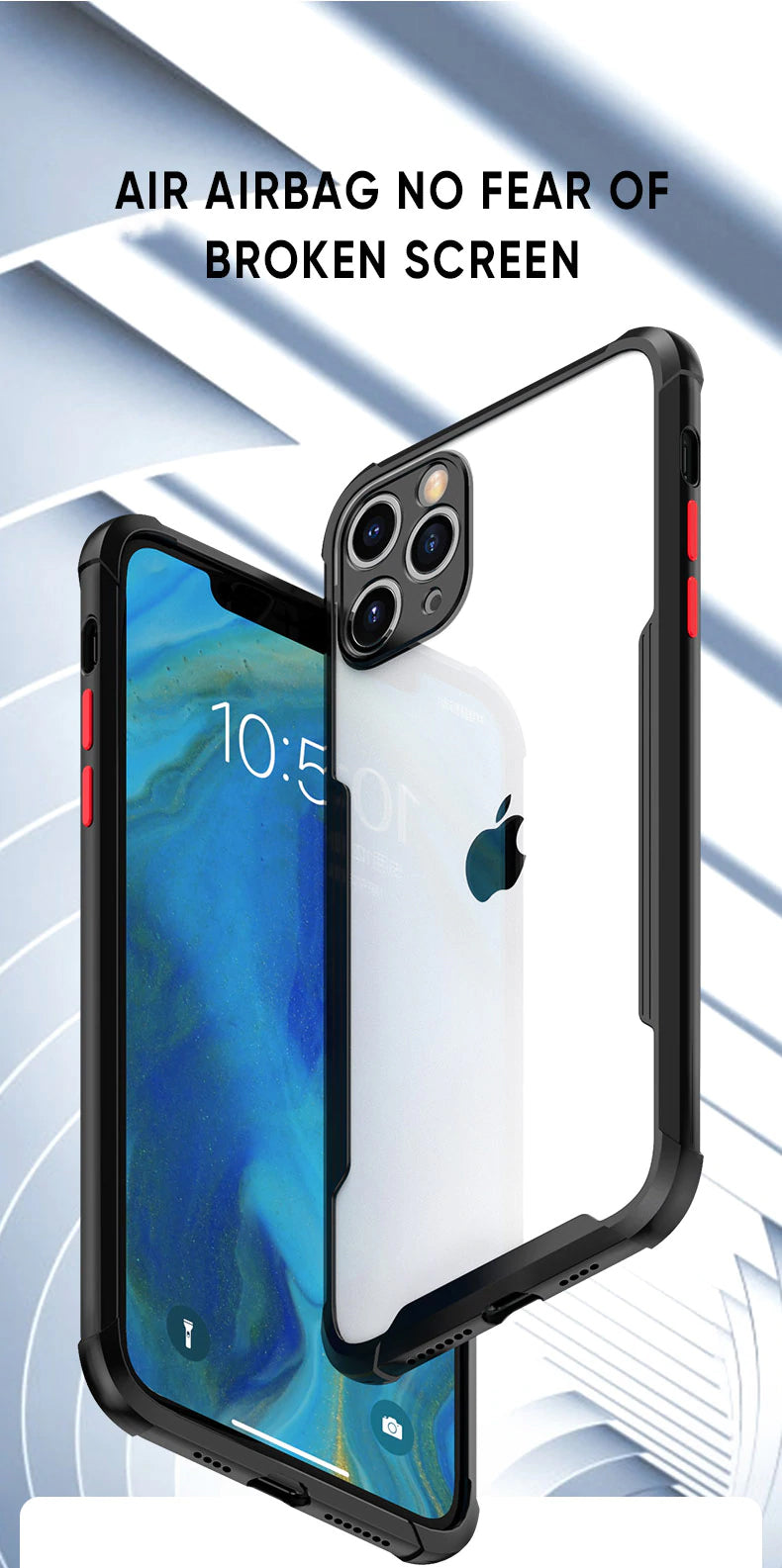 Luxury Shockproof Clear Silicone Cover Camera Protection Case For iPhone 11 Ultra