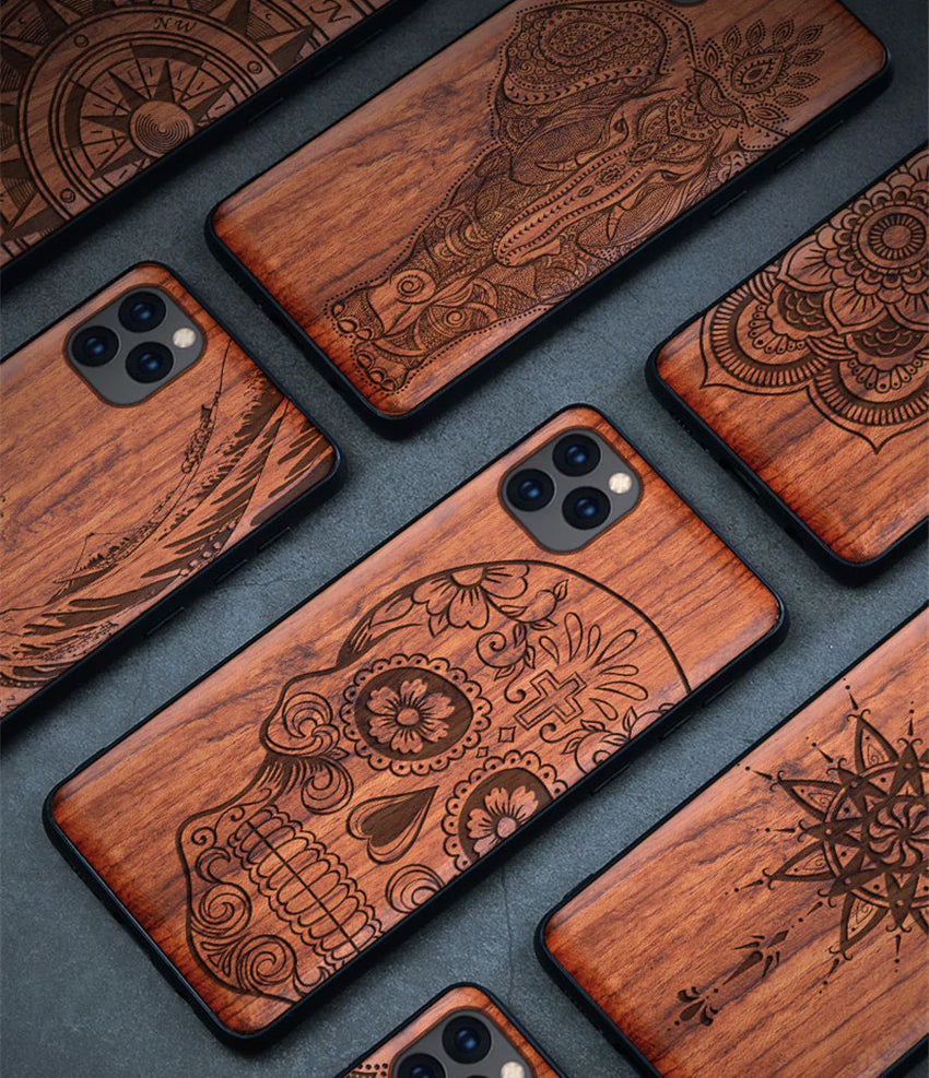 100% Natural Wooden Case For iPhone 12 Pro Max