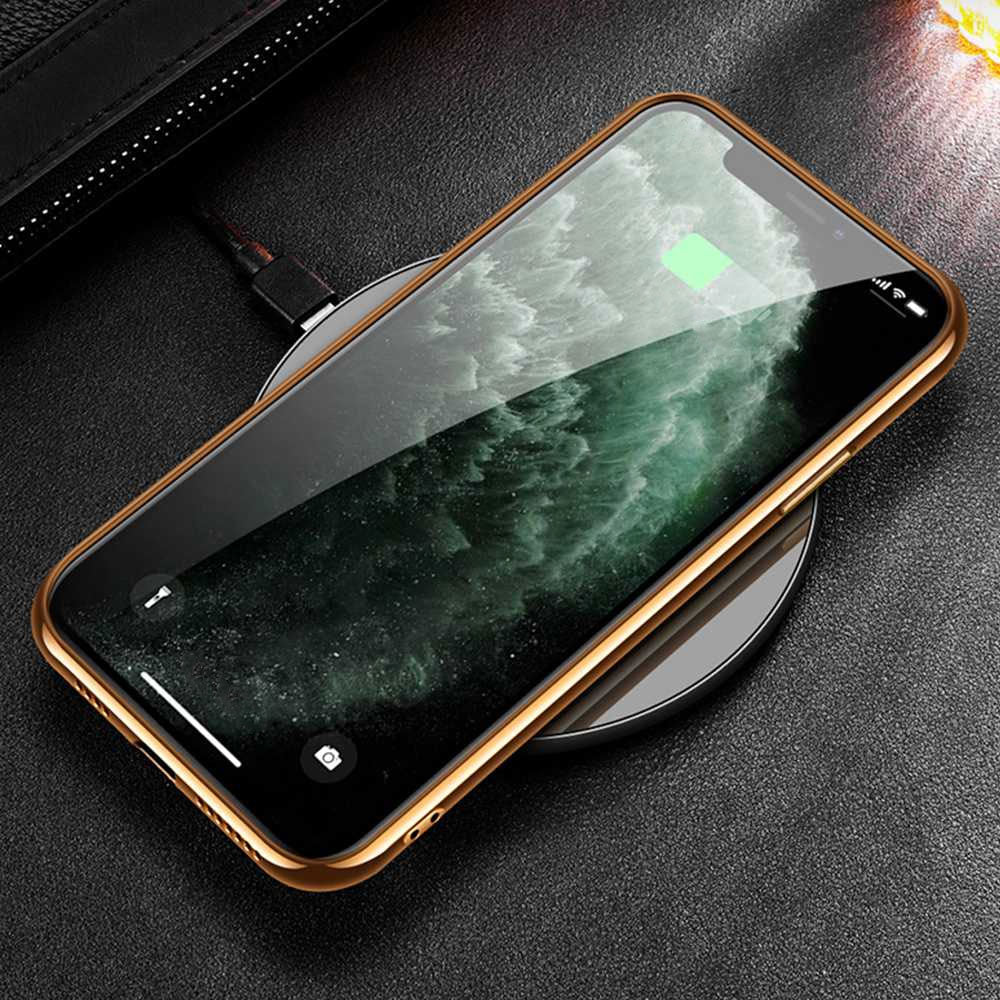 Luxury Plating Soft Edge Genuine Leather Case For iPhone 12 Pro Max 7