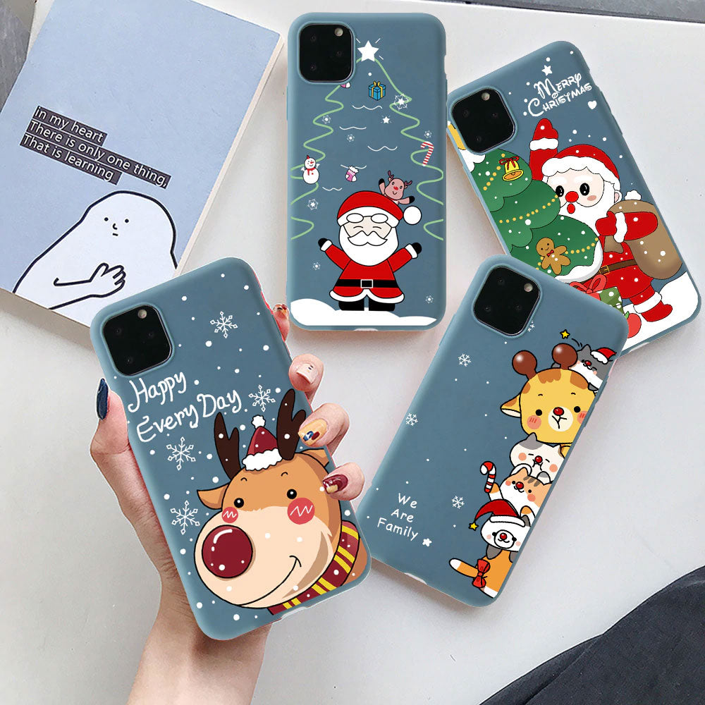 Funny Cartoon New Year Christmas Case For iPhone 12