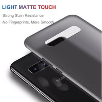 0.26mm Ultra Thin Protective Hard PP Matte Transparent Back Cover Case For Samsung Galaxy S10 S9 S8 Plus S10e