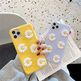 Cute 3D Little Daisy Flower Soft Case for iPhone 11 Series
