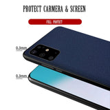 Genuine Leather Fitted Back Cover Case Full Protect for Samsung S20 Series