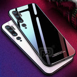 For XIaomi Mi Note 10 Case Tempered Glass With Ring Holder Hard Back Cover
