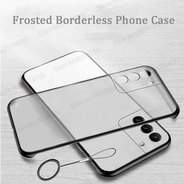 Ultra Thin Hard PC Shockproof Clear Frameless Matte Phone Cover For Samsung Galaxy S21 S20 Note 20 Series