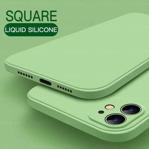 New Luxury Original Square Liquid Silicone Soft Case For iPhone 11 Pro Max 1