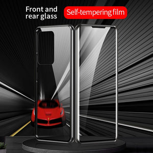 360 Full Protection Magnetic Bumper Double Glass Case For Samsung S20 Series