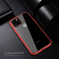 Simple Transparent Impact Resistant TPU PC Hybrid Shockproof Case for iPhone 11 Series