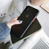 Luxury Contrast Color Frame Protective Case For iPhone 11 Series