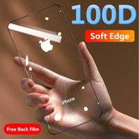100D Protective Tempered Glass Soft Edge Curved For iPhone 11 PRO XR XS MAX
