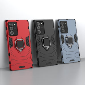 Magnetic Armor Ring Holder Hard Plastic Case For Samsung Galaxy Note 20 Series