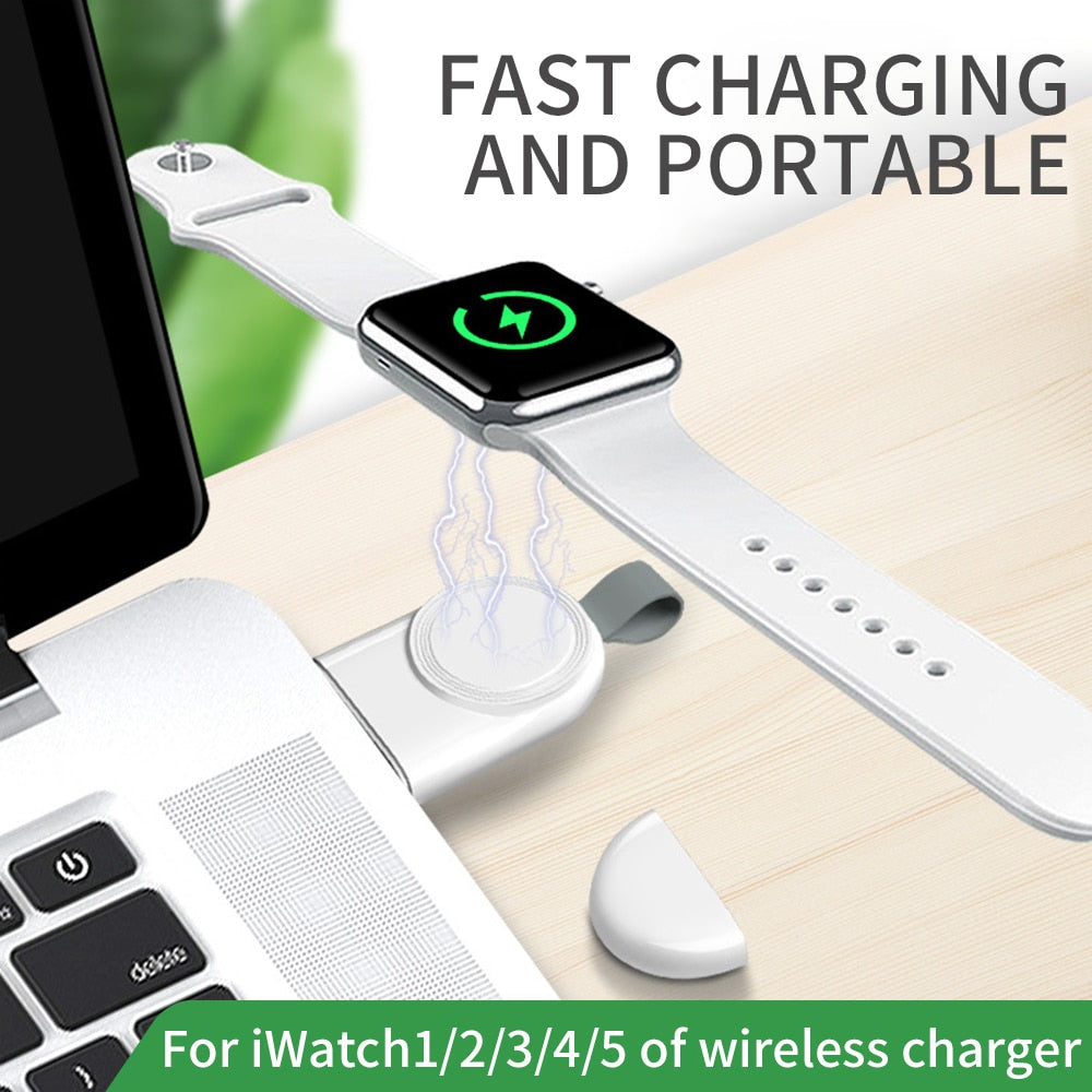 Mini Portable Wireless Charger Fast Charging for Apple iWatch