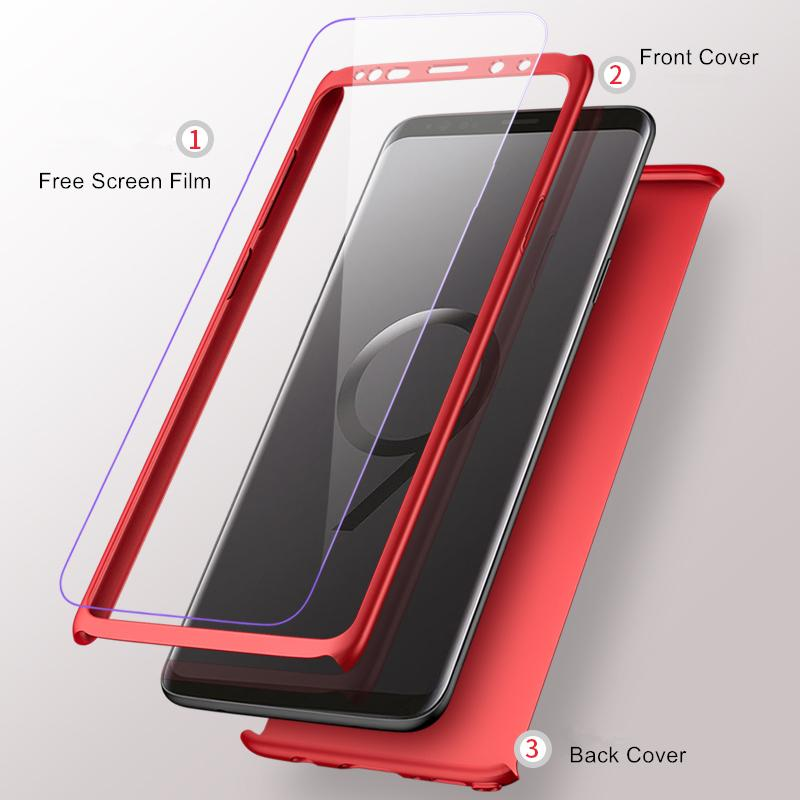 cheap for discount 5a352 b1a42 360 Degree Ultra Thin Phone Case For Samsung S9 S8 Plus S9 S8 Note 8 Note 9