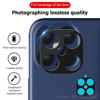 Titanium Alloy Full Cover Lens Screen Protector For iPhone 11 & 12 Series