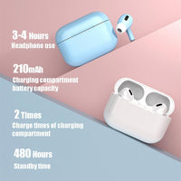 Wireless Earphone MX Air 3 Pro Bluetooth Earrbuds Noise Reduction GPRS Stereo Headset