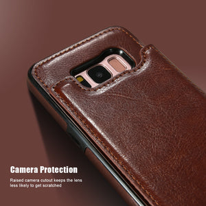 Luxury Retro Vintage Flip Wallet PU Leather Shockproof Case For Samsung Galaxy S20 Series