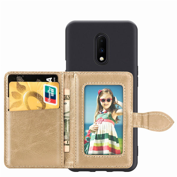Fashion PU Leather Credit Card Slot Wallet Phone Case For Oneplus 6 & 7 Series