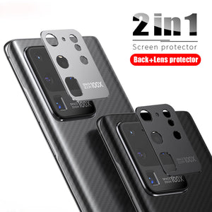 2 in 1 Carbon Fiber Camera Lens Protector for Samsung Galaxy S20 Series