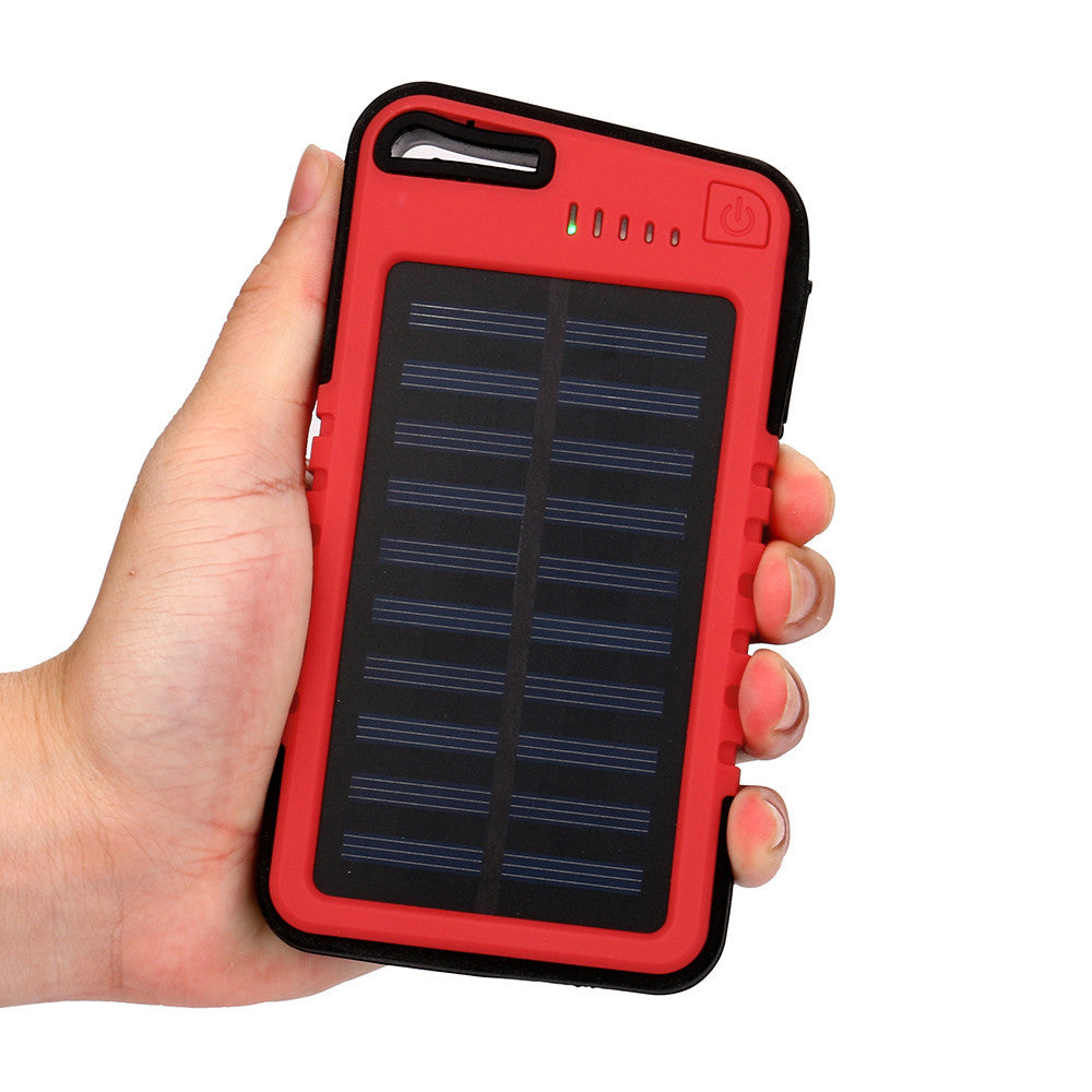 2018 Hot Search 20000mAh Dual-USB Waterproof Solar Power Bank
