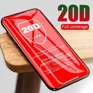 20D Curved Screen Protector Film Tempered Glass On The For iPhone X XS XR XS Max