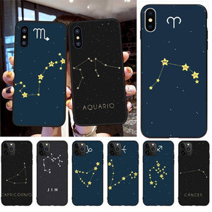 12 Constellations Zodiac Signs Custom Photo Soft Phone Case for iPhone 11 Series