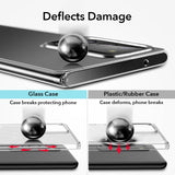 Luxury Tempered Glass Clear Ultra Thin Case for 2020 Samsung Galaxy Note 20