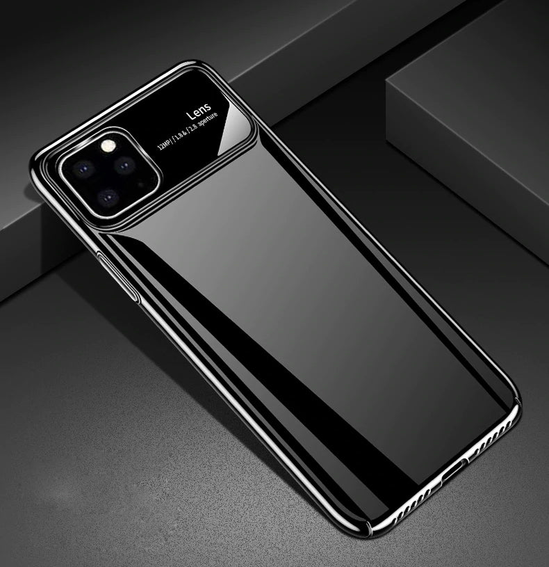 Luxury Matte Tempered Glass Protective Back Case for iPhone 11 Pro Max