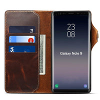 For Samsung Note 9 Genuine Leather Wallet Stand Protect Wallet Case