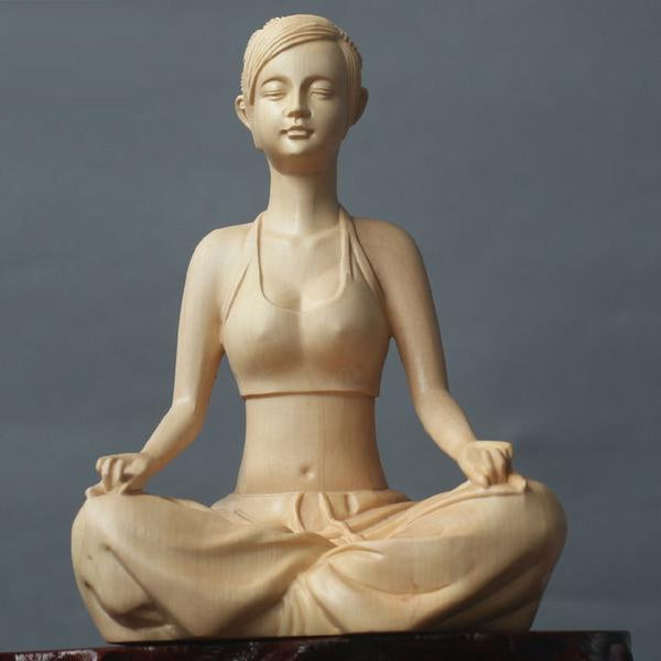 Character statue yoga beauty