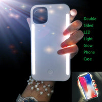 LED Light Glow Phone Case Double Sided For iPhone 11 Series