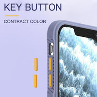 Luxury Square Shockproof Matte Phone Case Transparent Back Cover For iPhone 12 Series