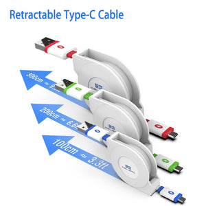 Retractable USB Type-C Cable Charger