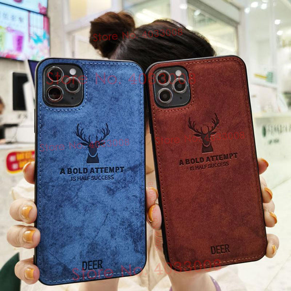 Silicone Fabric Cloth Deer Case for Iphone 12 & 11 Series