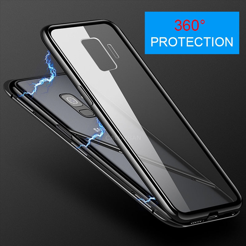 timeless design 8a41c 214e0 360 Magnetic Adsorption Phone Case for For Samsung Galaxy S9 S8 Plus Note 8  9