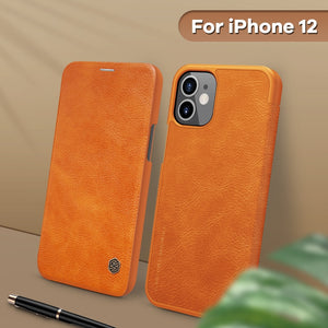 Vintage Flip Cover Wallet Leather Case for iPhone 12 Series