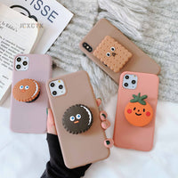 3D Cute Cartoon Oreo Cookies Soft Case Holder Cover for iPhone 11 Pro Max X XR XS  Samsung S8 S9 S10 Note