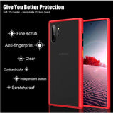 Shockproof Silicone Bumper Case Black Transparent Matte Hard Protective Cover For Samsung Galaxy Note 10 Plus Note 10