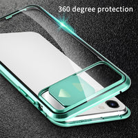 Magnetic Adsorption Metal Case Slide Protect Lens for iPhone 11 Series