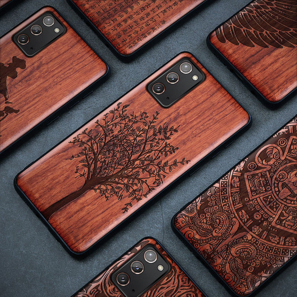 Luxury Carveit 3D Carved Real Wooden Case For Samsung Galaxy S21 S20 Note 20 Series
